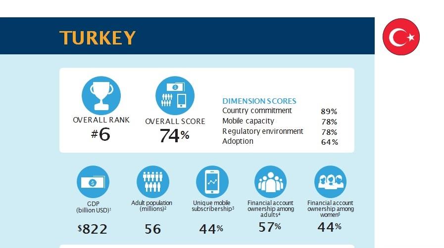 Türkiye Finansal Hizmetlere Erişim ve Kullanım Konusunda Gelişmekte Olan Ülkeler Arasında 6. Sırada Yer Aldı