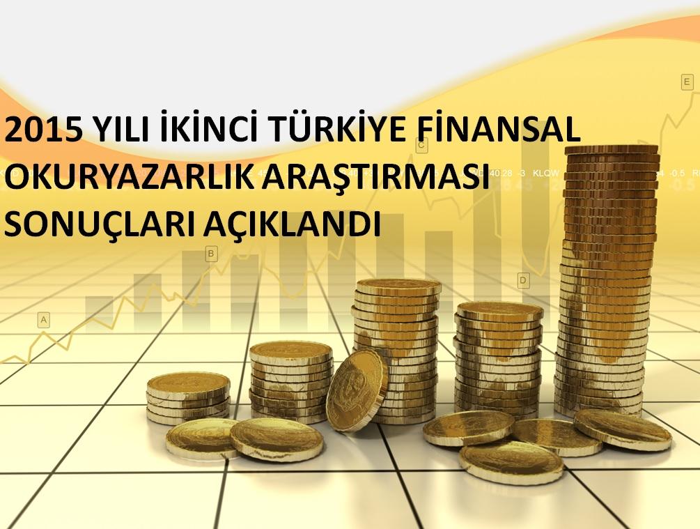 2015 Yılı İkinci Türkiye Finansal Okuryazarlık Araştırması Sonuçları Açıklandı